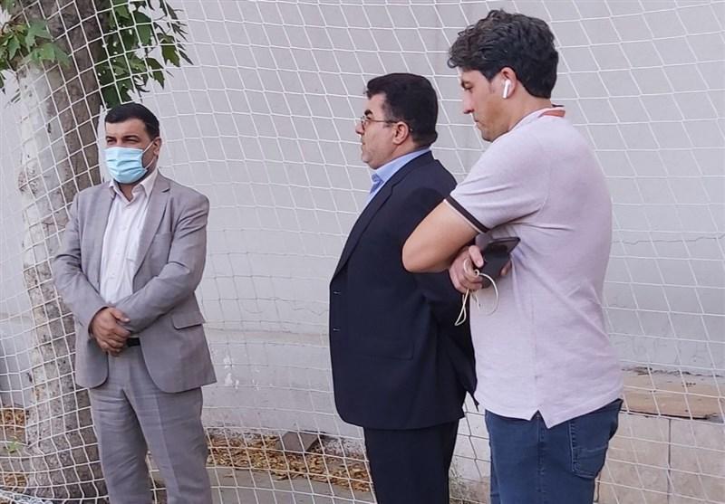 حضور مدیرعامل شرکت فولاد خوزستان در تمرین این تیم