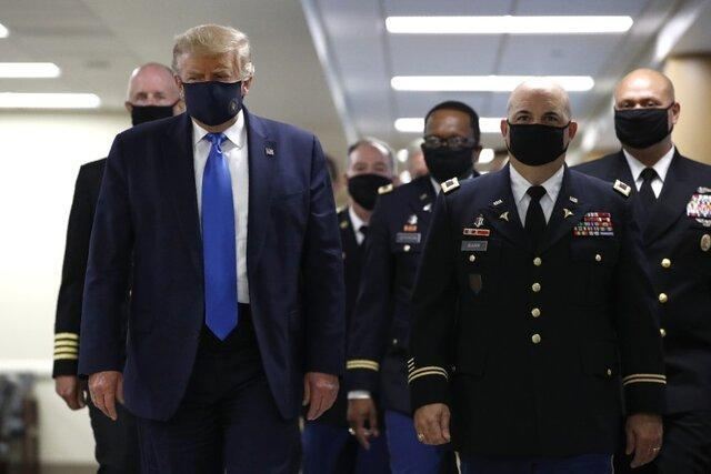 ترامپ ماسک زدن را میهن پرستی خواند