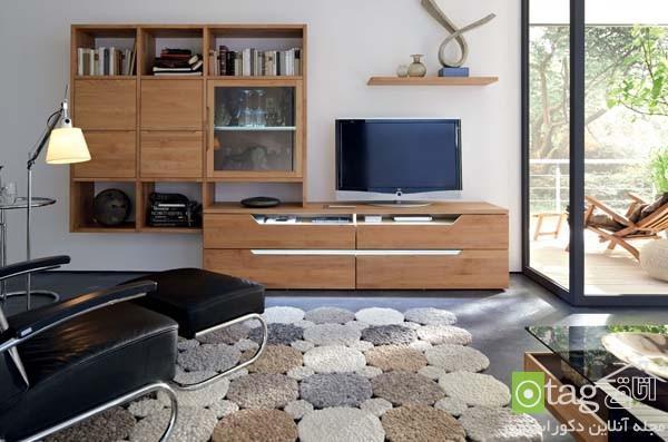 میز LCD چوبی و ام دی اف در طرح و رنگ های مختلف ، عکس