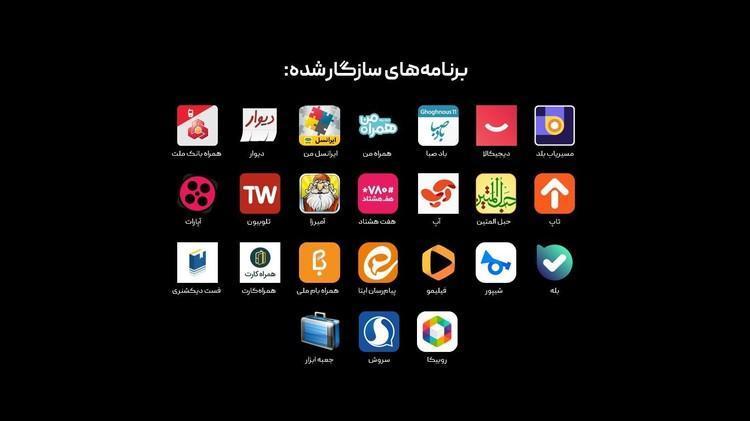 رشد پرسرعت سازگاری اپ های مهم ایرانی با سرویس های موبایلی هوآوی